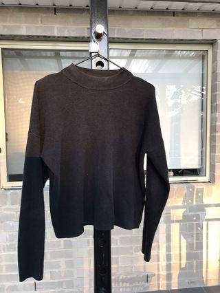 Black H&M cotton Crew Neck sweatshirt