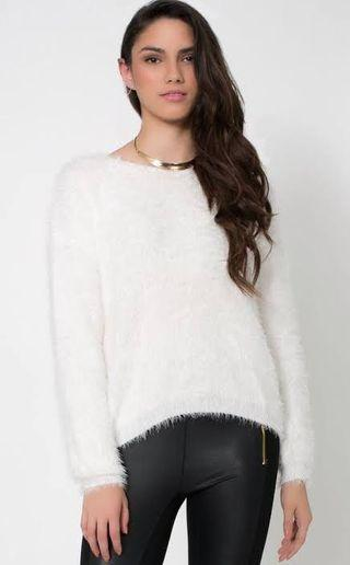 Hnm sweater white glittery