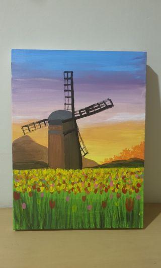Holland village Painting