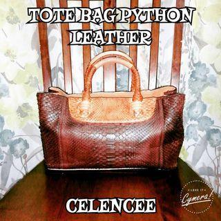 Tote Bag Python Leather Celencee
