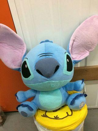 Disneyland Hong Kong 香港迪士尼樂園 扮野小魔星 Stitch 史迪仔 大公仔 30cm高 7成新正版有吊牌 背面有少污漬