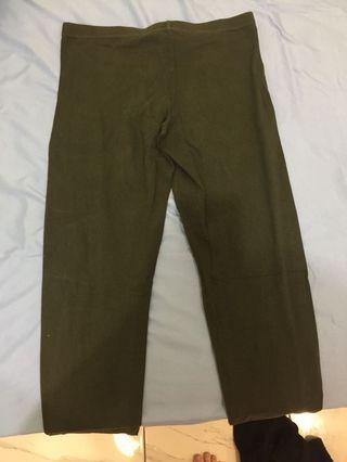 Legging wrna green army