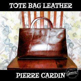 Tote Bag Leather Pierre Cardin