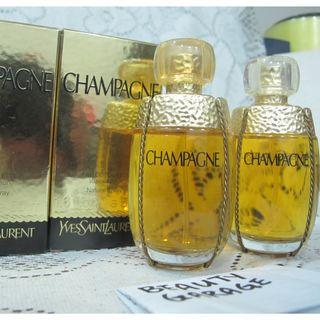 RARE 50ml x 2  YVES SAINT LAURENT Champagne EDT ( Yvresse ) YSL Women Perfume vintage discontinued !