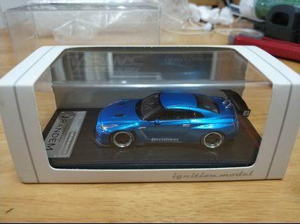 IG R35 GTR Blue 1/64
