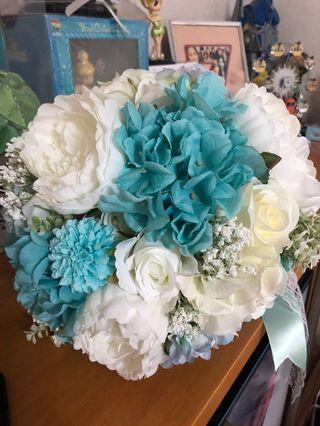婚禮 結婚花球 絲花