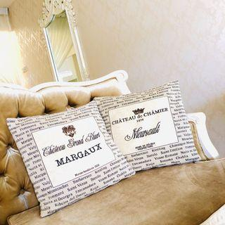 French Embroidered Cushion Covers, Satin Covers and Inserts