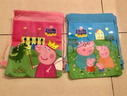Peppa Pig drawstring bags and jigsaw puzzle