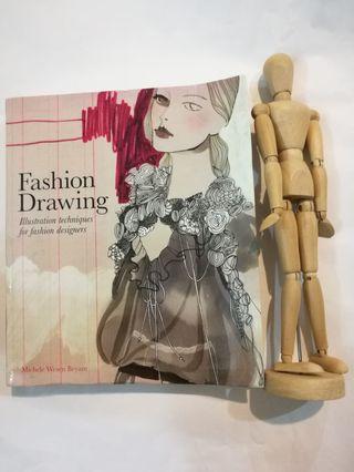All- fashion illustration book+wooden human manikin