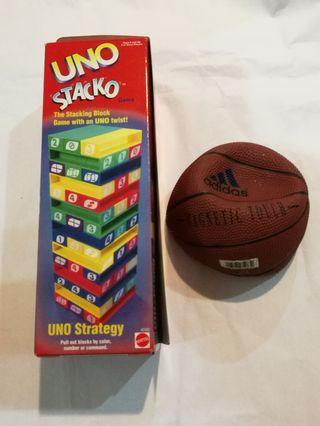All- Uno Stacko + Adidas Mini Basketball