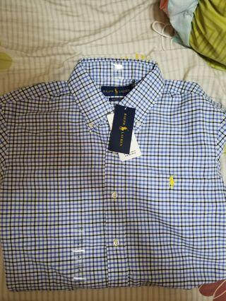 Ralph lauren polo shirt checked格仔