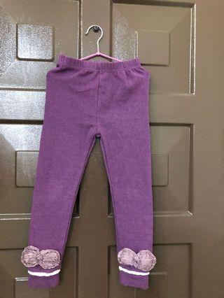 🚚 🎀女童紫色蝴蝶結長褲🎀