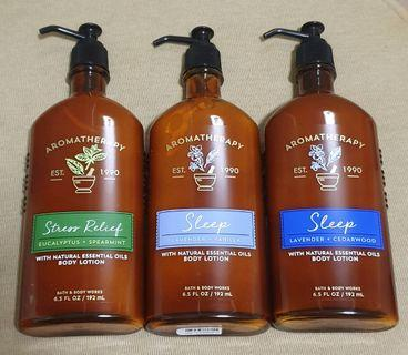 Bath and Body Works Aromatherapy Body Lotion and Body Wash