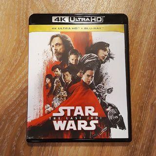 二手 港版Star Wars 星球大戰 8集 The Last Jedi 4KUHD +BD