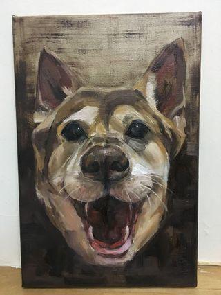 PET PORTRAIT 寵物肖像油畫 - oil painting (20 x 30CM)