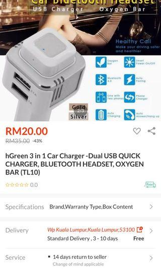 Lelong car charger with bluetooth