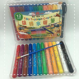 顏色筆套裝 - 3合1水蠟筆12色