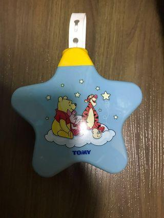 TOMY Pooh musical projector for baby sleep