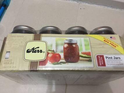🚚 Mason Jars regular mouth 1 pint case (set of 12 Jars)