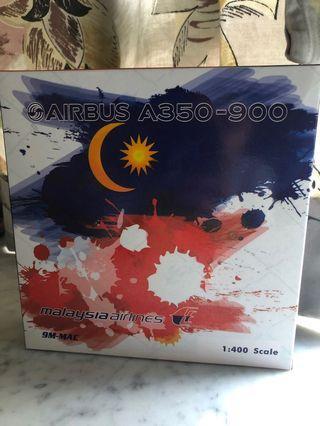 新 1:400 Phoenix PH 馬來西亞國旗花A350-900 Malaysia Airlines MH A359 National Flag Livery 飛機模型