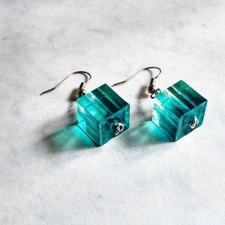 Blue Wave Handmade Resin Earring