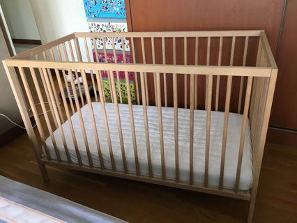 🚚 Adjustable baby cot (bed inclusive)