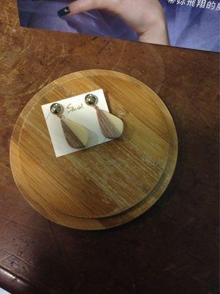 韓國飾品衝浪板木質耳環#五折出清女裝