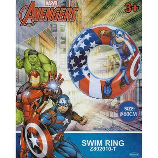 🚚 Mesuca Sports Marvel Superheroes Avengers Captain America 60cm Inflatable Swimming Ring Float