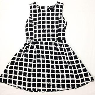 Black & White Grid Dress