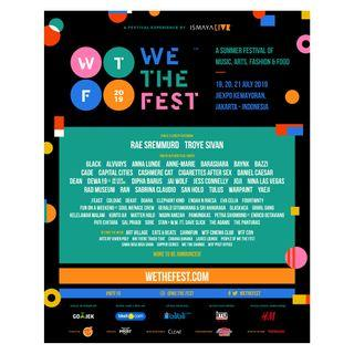 TIKET WE THE FEST 3 DAYS PASS EARLY ENTRY
