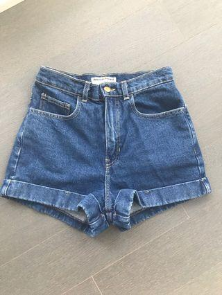 American Apparel Denim Shorts (Size 26)