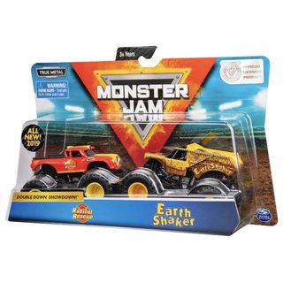 Monster Jam Double Radical Rescue vs Earth Shaker 1:64