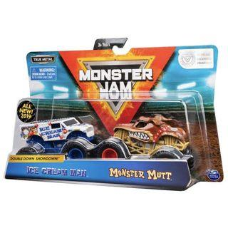🚚 Monster Jam Double Ice Cream Man VS Monster Mutt 1:64