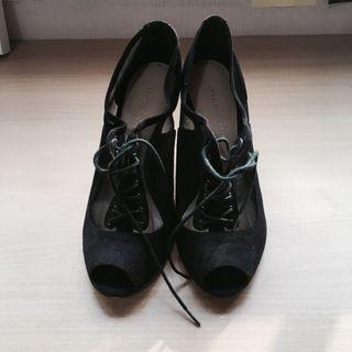 Charles and Keith high heel netted shoes