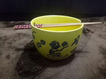 Set Mangkuk Kaca Dan Chopstick Knorr #CarousellFaster