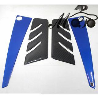 Yamaha Tmax530 Tmax 530 middle mid tank front back carbon fiber sticker decal epoxy white blue yellow red large