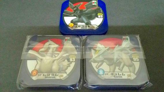 3 in 1 Pokemon Tretta Reshiram,Zekrom,Kyurem 2 Star