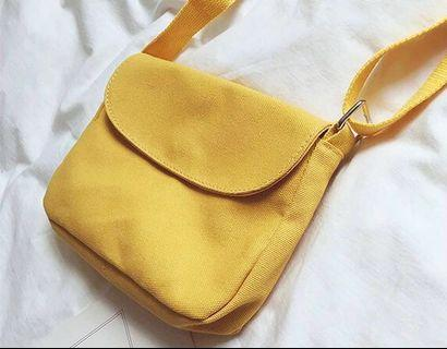 🚚 Mustard Canvas Sling Bag