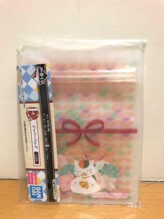 夏目友人帳一番くじ — E賞 貓咪老師造型zip bag