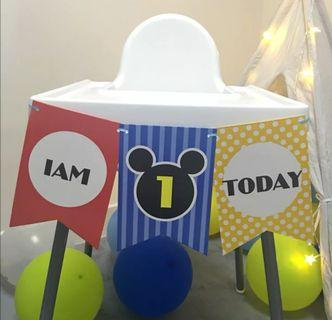 Baby First Year Birthday Party Banner