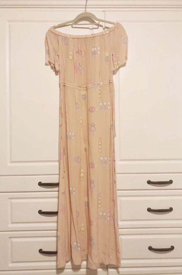 & Other Stories Paradise off-shoulder maxi dress - Size 4 - Like New Condition