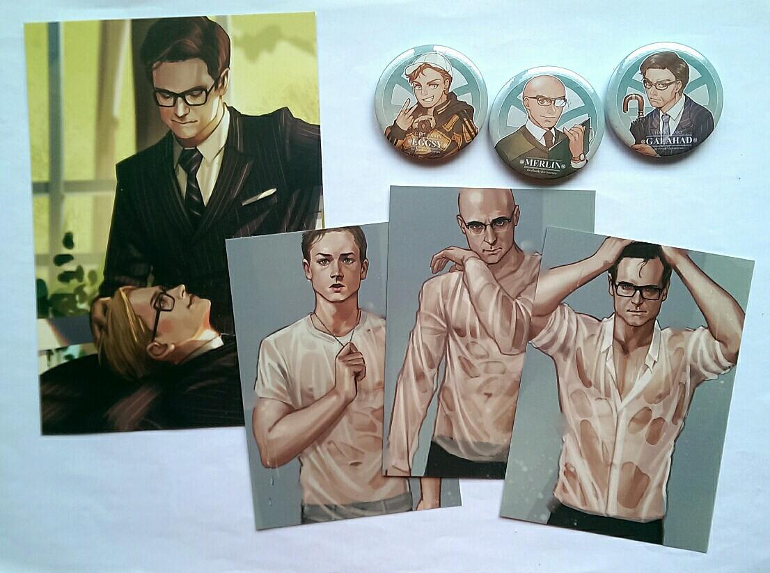Kingsman Fanmade Merchandise - Art Prints + Free Button Badges