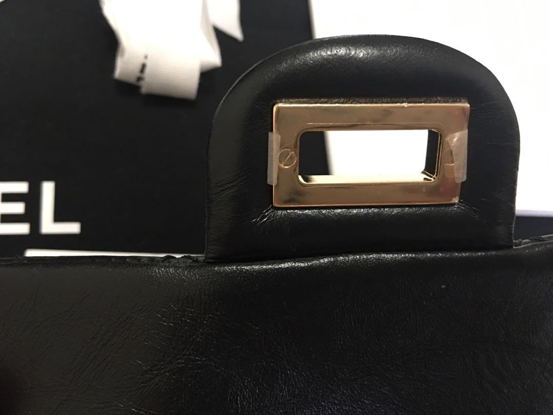 AUTHENTIC Chanel Reissue Black MINI bag ghw 19A Last of Karl Lagerfelds Collection