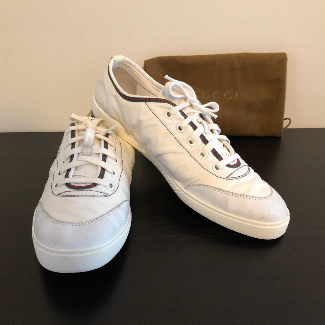 Authentic GUCCI sneakers Chaussure Sportive E white size 38.5 G or AU 8 US 8.5