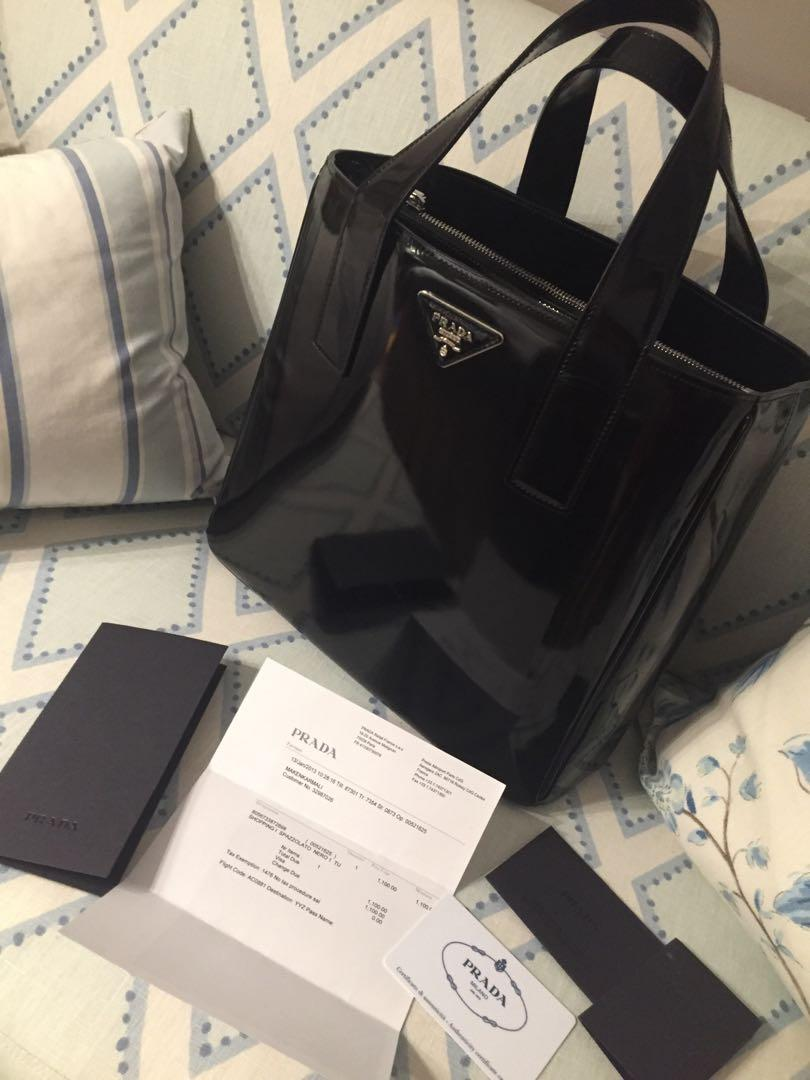 Authentic Prada Shopping Spazzolato Nero Handbag