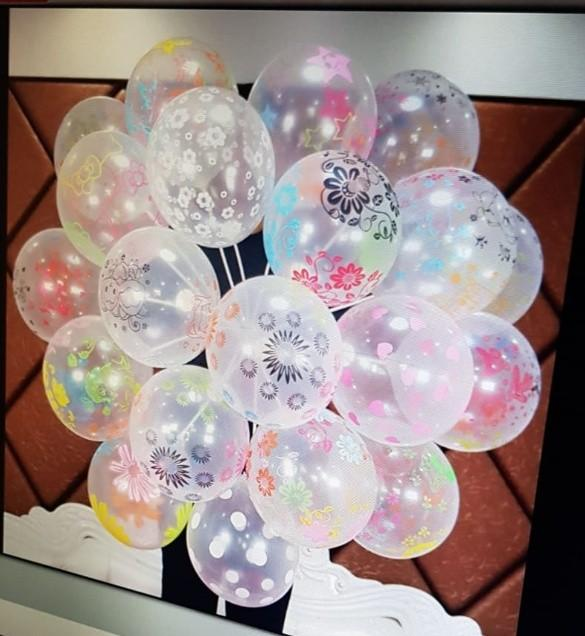 Balloons Transparent with mix designs