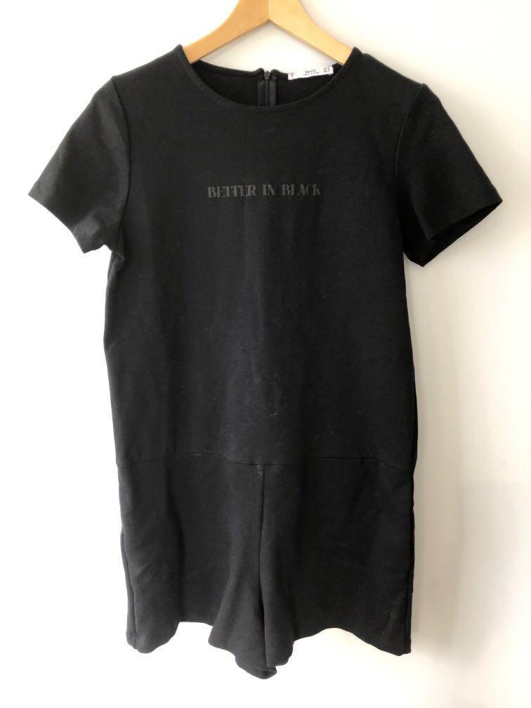"""Better in Black"" Black Playsuit"