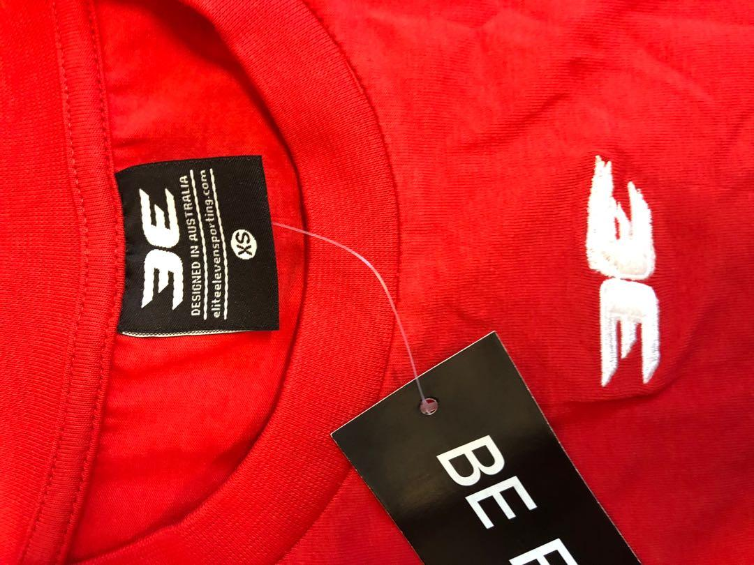 BNWT Elite Eleven red gym fitness crop t-shirt top Xs