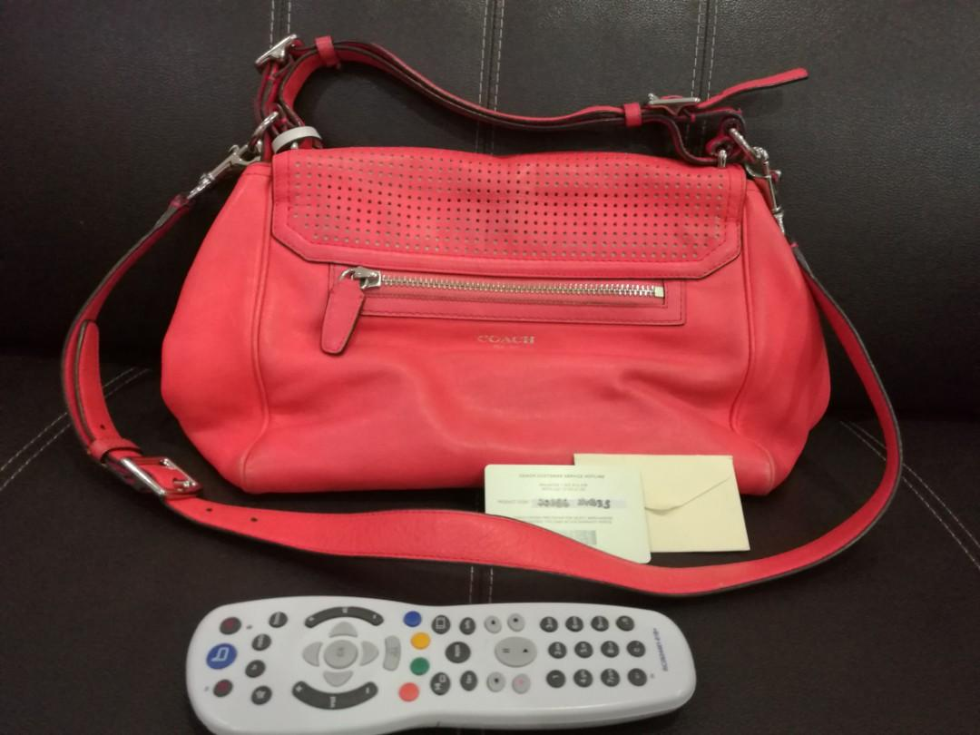 Coach 22386 Legacy Perforated Leather Romy Top Handle Shoulder Handbag