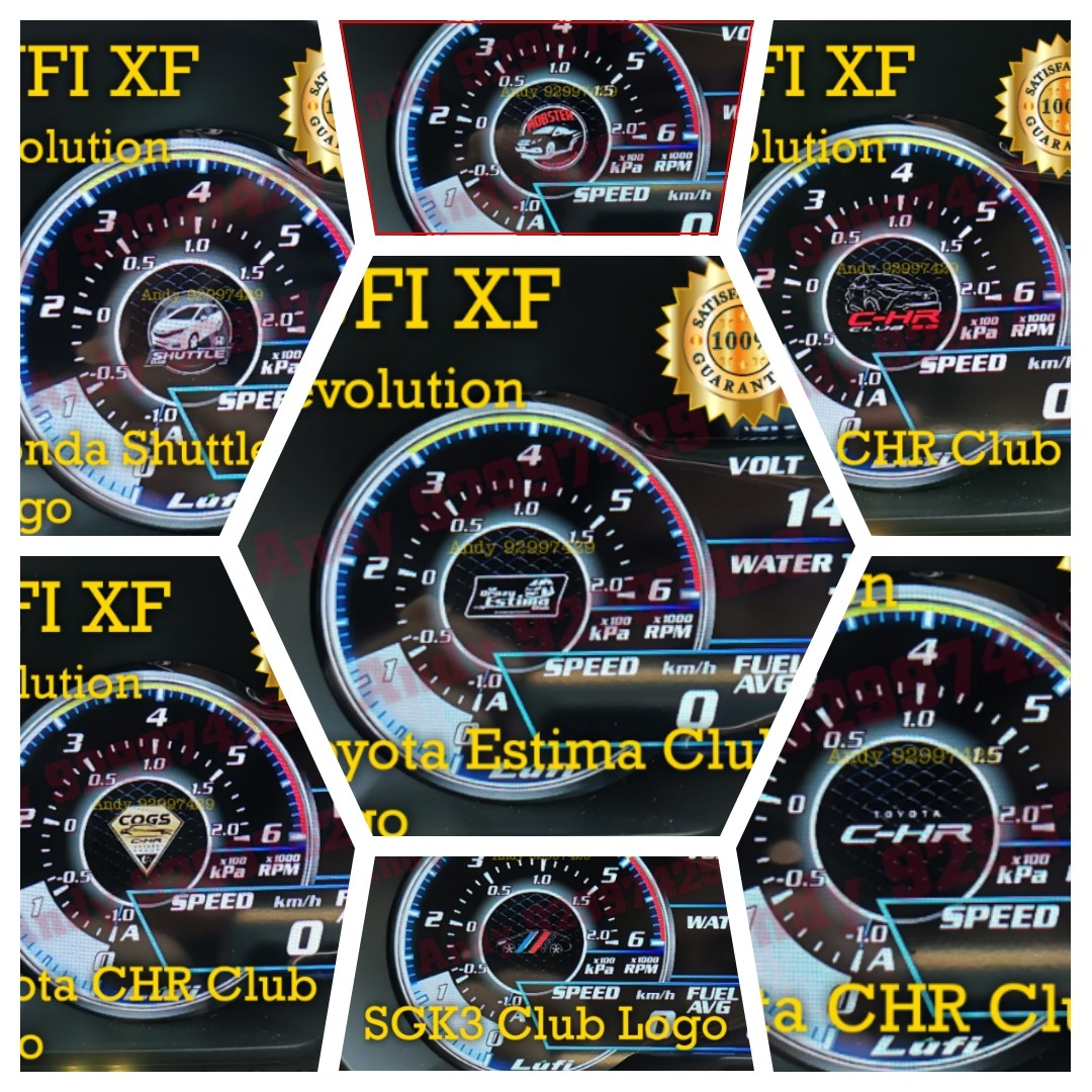 Customised Car Club Logo for Lufi XF Revolution OBD OBD2